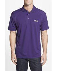 Cutter & Buck - Purple 'baltimore Ravens - Genre' Drytec Moisture Wicking Polo for Men - Lyst