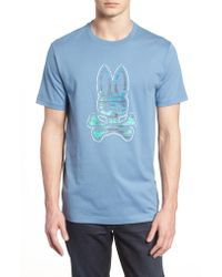 Psycho Bunny - Blue Graphic T-shirt for Men - Lyst