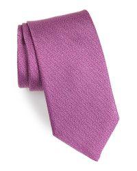 David Donahue - Purple Solid Silk Tie for Men - Lyst