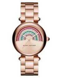 Marc Jacobs - Metallic Marc Jacobs Dotty Crystal Bracelet Watch - Lyst