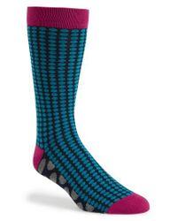 Ted Baker | Pink Spot Organic Cotton Blend Socks for Men | Lyst