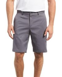 Nike - Gray Flat Front Golf Shorts for Men - Lyst