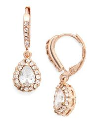 Givenchy - Pink Teardrop Crystal Earrings - Lyst