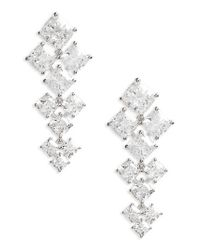 Nadri - Metallic Vera Crystal Drop Earrings - Lyst