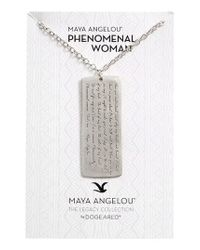 Dogeared - Metallic Legacy Collection - Phenomenal Women Large Tag Necklace - Lyst