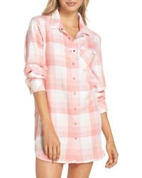 Make + Model - Pink Plaid Nightshirt - Lyst