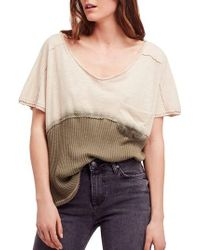 Free People - Natural Sun Dial Tee - Lyst
