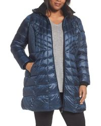 Bernardo - Blue Quilted Jacket With Down & Primaloft Fill - Lyst