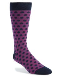 Ted Baker - Blue Spot Socks for Men - Lyst