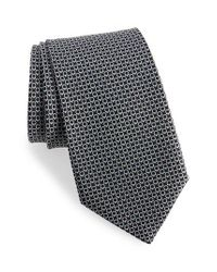 Ferragamo - Black Energia Omega Print Silk Tie for Men - Lyst