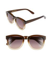 Wildfox - Brown 'classic Fox' 50mm Retro Sunglasses - - Lyst
