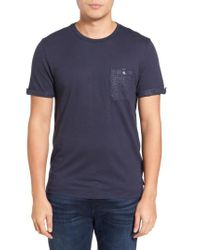 Ted Baker - Blue Apel Print Pocket T-shirt for Men - Lyst