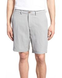 Tommy Bahama - Gray Monterey Flat Front Silk & Linen Shorts for Men - Lyst