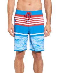 Vineyard Vines - Blue Fish Camo Stripe Board Shorts for Men - Lyst