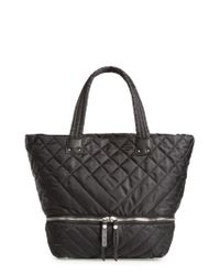Sam Edelman | Black Arianna Quilted Nylon Tote | Lyst