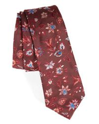 Paul Smith - Red Silk Jacquard Tie for Men - Lyst