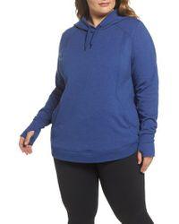 Zella   Blue En Route Pullover Hoodie (plus Size)   Lyst