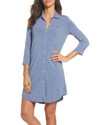 Lauren by Ralph Lauren - Blue Jersey Sleep Shirt - Lyst