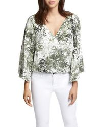 Sanctuary - Multicolor Gilligan Faux Wrap Top - Lyst