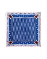 Givenchy - Blue Star Silk Twill Square Scarf - Lyst