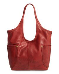 Frye | Red Campus Rivet Leather Shoulder Bag | Lyst