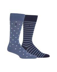 Ralph Lauren - Stars & Stripes 2-pack Socks, Blue for Men - Lyst