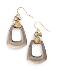 Alexis Bittar | Metallic Lucite Smoky Quartz Drop Earrings | Lyst