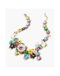 J.Crew - Multicolor Flower Statement Necklace - Lyst