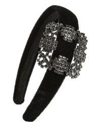Tasha - Black Na Buckle Headband - Lyst
