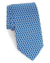 Ferragamo - Blue Riccardo Dog Print Silk Tie for Men - Lyst