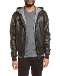 Mackage - Multicolor Hooded Leather Jacket for Men - Lyst