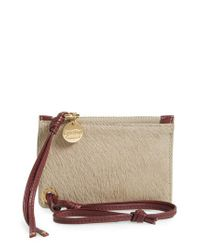 See By Chloé - Gray Genuine Calf Hair Passport Holder & Leather Card Case - Lyst