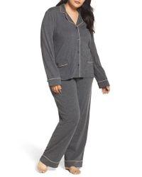 DKNY | Gray Jersey Pajamas | Lyst