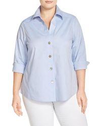 Foxcroft | Blue 'paige' Non-iron Cotton Shirt | Lyst
