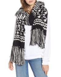 Free People - White Mile High Fleece Fringe Scarf - Lyst