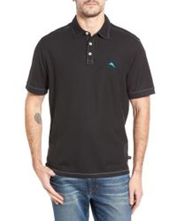 Tommy Bahama - Black Tropicool Spectator Pique Polo for Men - Lyst