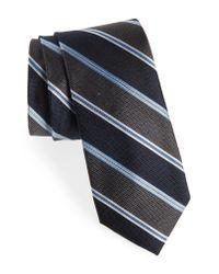 Calibrate - Blue Williard Stripe Silk Tie for Men - Lyst