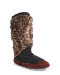 Acorn - Red Slouch Slipper Boot - Lyst
