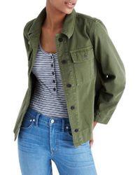 Madewell | Green Northward Crop Army Jacket | Lyst