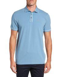 Ted Baker   Blue Offset Modern Slim Fit Polo for Men   Lyst