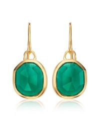 Monica Vinader - Metallic Siren Semiprecious Stone Drop Earrings - Lyst