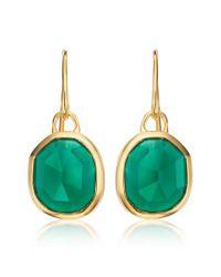 Monica Vinader | Metallic Siren Semiprecious Stone Drop Earrings | Lyst