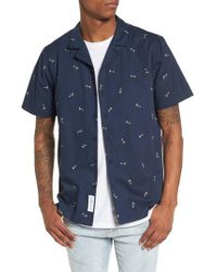 Native Youth - Blue Toucan Shirt for Men - Lyst