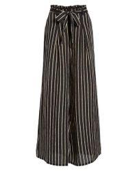 Billabong - Black Wide Leg Pants - Lyst