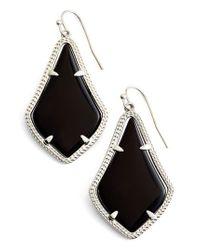 Kendra Scott - Black Alex Drop Earrings - Lyst