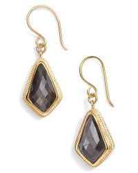 Anna Beck - Metallic Grey Sapphire Kite Earrings - Lyst
