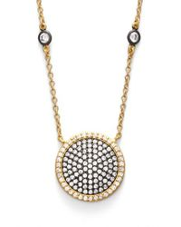 Freida Rothman - Metallic 'metropolitan' Pave Pendant Necklace - Lyst