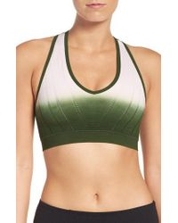 Climawear - Green 'beyond The Horizon' Racerback Sports Bra - Lyst
