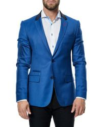 Maceoo - Blue Socrate Check Jacquard Sport Coat for Men - Lyst