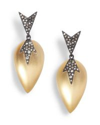 Alexis Bittar - Metallic Lucite Drop Earrings - Lyst